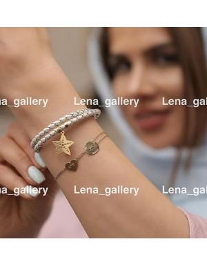 دستبند طرح دختر و پسر با حك اسم ماهور و هليا
