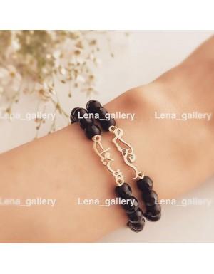 دستبند طرح گل لاله