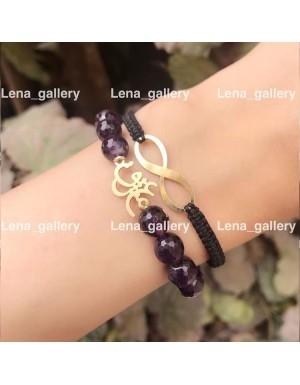 دستبند طرح باغ و بهار من تويي