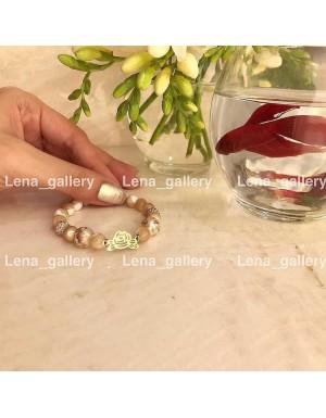 دستبند طرح گل