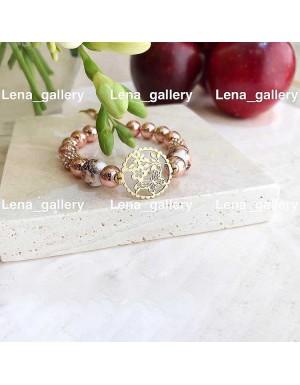 دستبند طرح گل و شکوفه