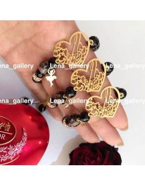 دستبند طرح عشق