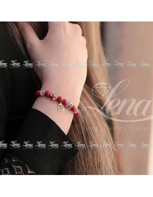 دستبند طرح قلب و پرنده
