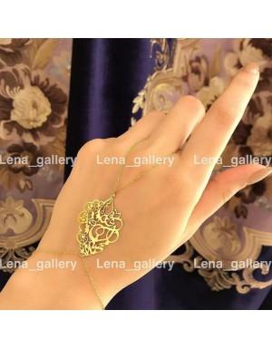 دستبند طرح گل داماس
