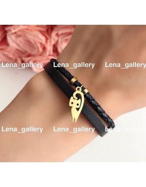 دستبند طرح تاج هلالی با سنگ های بنفش مات
