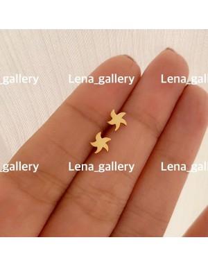 گوشواره طرح ستاره دريايی