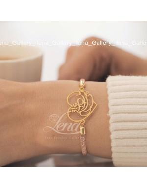 دستبند-طرح-قلب-و-حروف